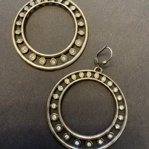 Catherine popesco Sterling silver cz crystal hoops